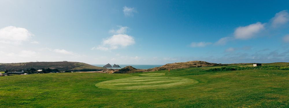 Stunning sea view at Holywell Bay Par 3 Golf Course