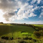 Dramatic golf hole at Holywell Bay Golf near Newquay