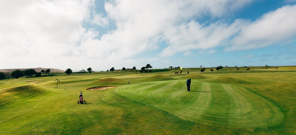 Fairways at Holywell Bay Golf course, near Newquay