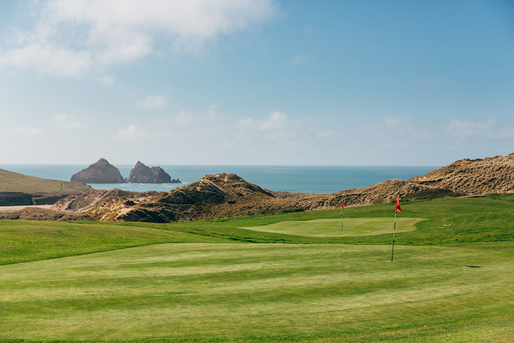 View of Gull Rocks at Holywell Bay Golf, near Newquay