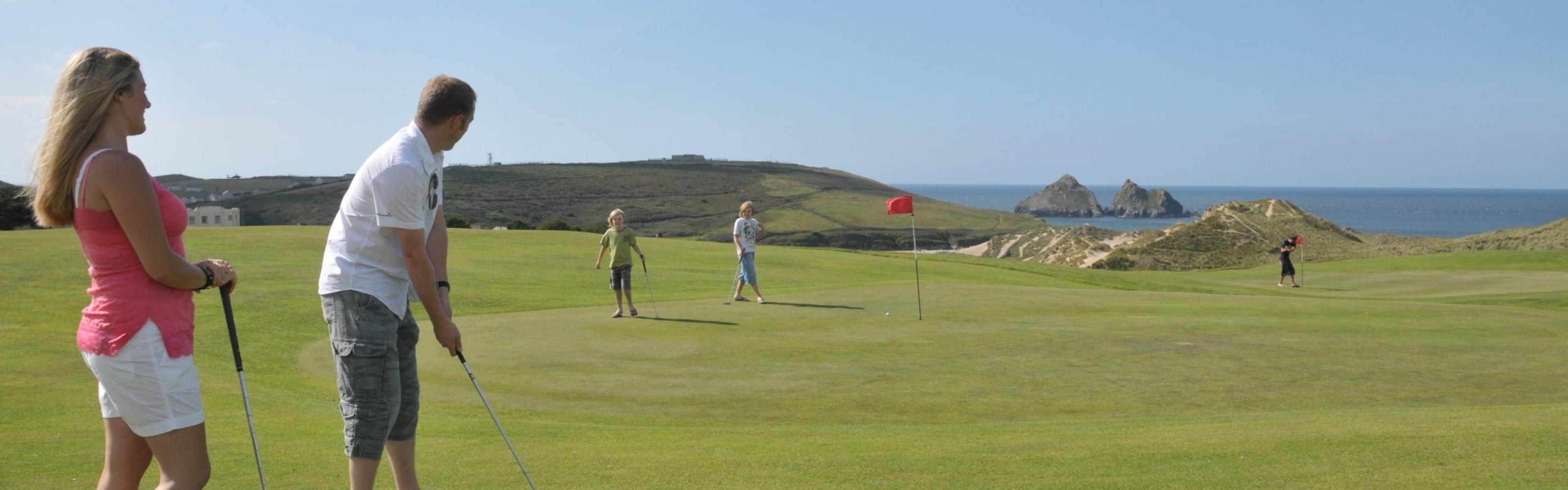 Holywell Bay Golf Club Homepage Banner